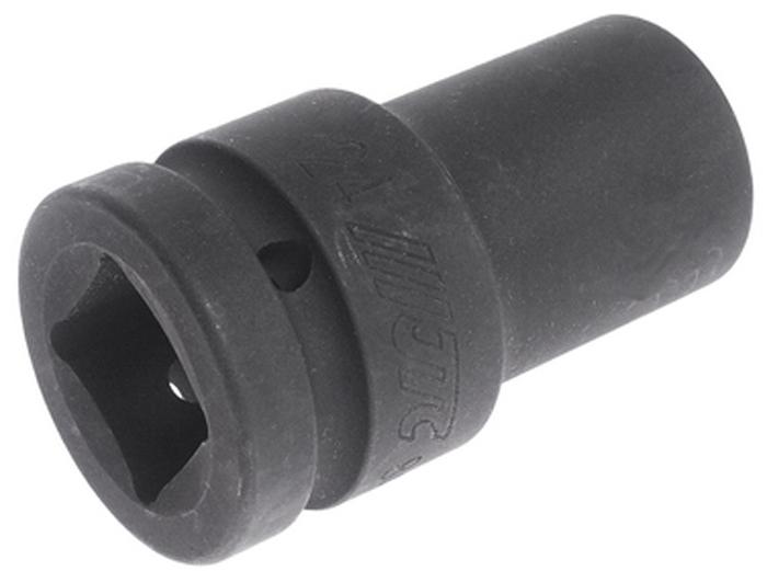 """JTC Головка торцевая глубокая ударная 6-гранная 1 х 24 мм, длина 90 мм. JTC-849024RC-100BWCИзготовлена из высококачественной хром-молибденовой стали.6 граней, метрический размер. Размер: 1""""х24 мм. Длина: 90 мм.Габаритные размеры: 100/60/60 мм. (Д/Ш/В)Вес: 757 гр."""