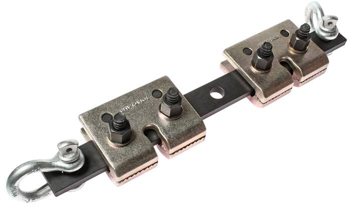JTC Захват для кузовных работ двойной. JTC-C603JTC-3028Рабочее усилие: 5 т. Размеры болта: 14 мм. Øх73 мм. Применяется с двумя крюками. Приспособление может крепиться к кузову или любому месту на кузове. Количество в оптовой упаковке: 4 шт. Габаритные размеры: 460/110/85 мм. (Д/Ш/В) Вес: 6300 гр.