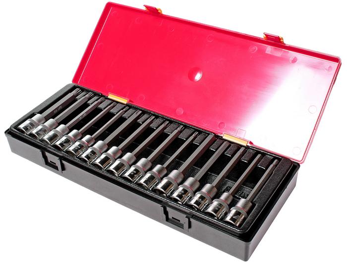 JTC Набор головок с насадкой TORX, HEX, SPLINE 1/2,15 шт. JTC-K4152CLP446Набор головок TORX, HEX, SPLINE в кейсе 15 предметов JTCХарактеристики В комплекте: Артикулы JTC-45530120-55120: головки TORX длина 120 мм.: T30, T40, T45, T50, T55 - 5 шт.Артикулы JTC-45605120-10120: головки HEX длина 120 мм.: H5, H6, H7, H8, H10 - 5 шт.Артикулы JTC-45705120-12120: головки SPLINE длина 120 мм.: M5, M6, M8, M10, M12 - 5 шт.Квадрат присоединения 1/2. Общее количество предметов: 15 шт. Комплект упакован в прочный презентабельный бокс. Габаритные размеры: 370/145/55 мм. (Д/Ш/В) Вес: 2050 г.