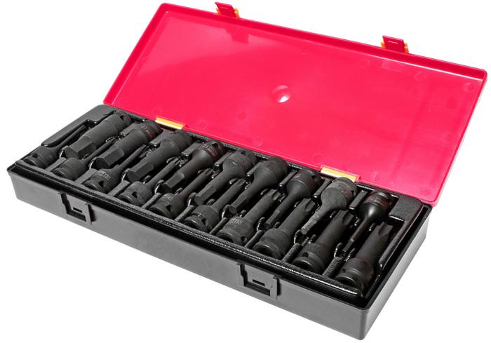 JTC Набор головок ударных TORX, HEX 1/2, 19 шт. JTC-K4191RC-100BWCНабор головок TORX, HEX ударных в кейсе 19 предметов JTCХарактеристики В комплекте: Артикулы JTC-447825-80: головки TORX: T25, T27, T30, T40, T45, T50, T55, T60, T70, T80 - 10 шт.Артикулы JTC-447905-19: головки HEX: H5, H6, H7, H8, H10, H12, H14, H17, H19 - 9 шт.Квадрат присоединения 1/2. Общее количество предметов: 19 шт. Комплект упакован в прочный презентабельный бокс. Габаритные размеры: 370/145/55 мм. (Д/Ш/В) Вес: 2670 г.