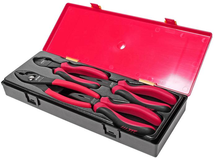 JTC Набор губцевого инструмента: длинногубцы, бокорезы, клещи. JTC-K5043  набор инструмента jtc 3432a