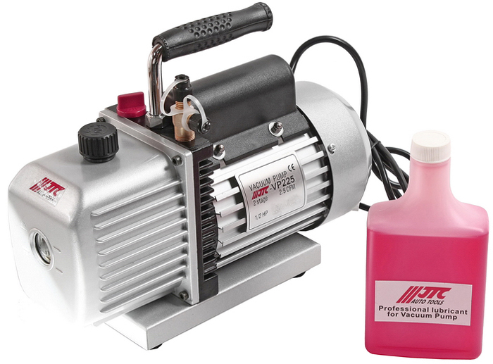 JTC Насос вакуумный для хладагентов R-134a и R-12. JTC-VP225CA-3505Используется для хладагентов R-134a и R-12. Подача: 2,5 CFM. Количество этапов: 2 Конечный вакуум: 25 мкр. Скорость вращения (об/мин): 1725 Двигатель: 1/2HP Источник питания: 220V/50-60Гц Габаритные размеры: 365/285/195 мм. (Д/Ш/В) Вес: 11270 гр.