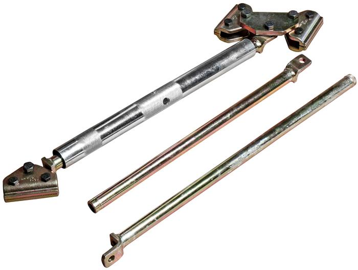 JTC Распорка для проемов кузова универсальная, с поворотными захватами и сменными планками. JTC-YC101RC-100BWCДлина: 780-1850 мм. В комплекте:Внутренняя сменная планка - 1 шт.Внешняя сменная планка - 1 шт.Применение: для восстановления геометрии дверных проемов, кузова или багажника. Использование инструмента экономит рабочее время. Конструкция распорки с двумя поворотными захватами расширяет диапазон применения и позволяет выставлять инструмент под любым углом. Количество в оптовой упаковке: 20 шт.Габаритные размеры: 680/175/130 мм. (Д/Ш/В)Вес: 16000 гр.