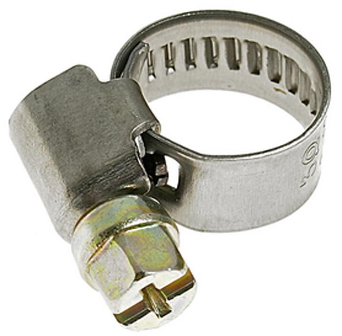 Хомут червячный JTC, 8-12 мм. JTC-ZN12CA-3505Хомут червячный JTC выполнен из нержавеющей стали. Особая конструкция хомута позволяет выставлять различные диаметры с помощью стяжного винта. Увеличенная площадь рабочей поверхности болта позволяет сильнее затягивать хомут, делая крепление материалов более надежным. Обладает высоким сопротивлением скручиванию (60 кг/см2 для ленты шириной 9 мм, 80 кг/см2 для ленты шириной 12 мм) и высокой прочностью. Специальная кромка не оставляет заусениц и не повреждает поверхность шланга.Диапазон применения: 8-12 мм.Ширина ленты: 9 мм.Толщина ленты: 0,6 мм.