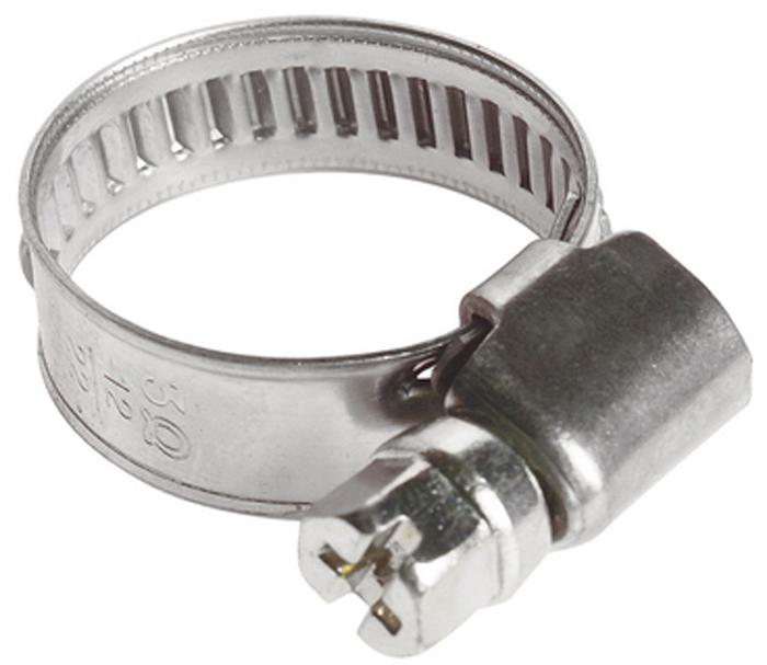 Хомут червячный JTC, 12-22 мм. JTC-ZN22FS-80423Хомут червячный JTC выполнен из нержавеющей стали. Особая конструкция хомута позволяет выставлять различные диаметры с помощью стяжного винта. Увеличенная площадь рабочей поверхности болта позволяет сильнее затягивать хомут, делая крепление материалов более надежным. Обладает высоким сопротивлением скручиванию (60 кг/см2 для ленты шириной 9 мм, 80 кг/см2 для ленты шириной 12 мм) и высокой прочностью. Специальная кромка не оставляет заусениц и не повреждает поверхность шланга.Диапазон применения: 12-22 мм.Ширина ленты: 9 мм.Толщина ленты: 0,6 мм.