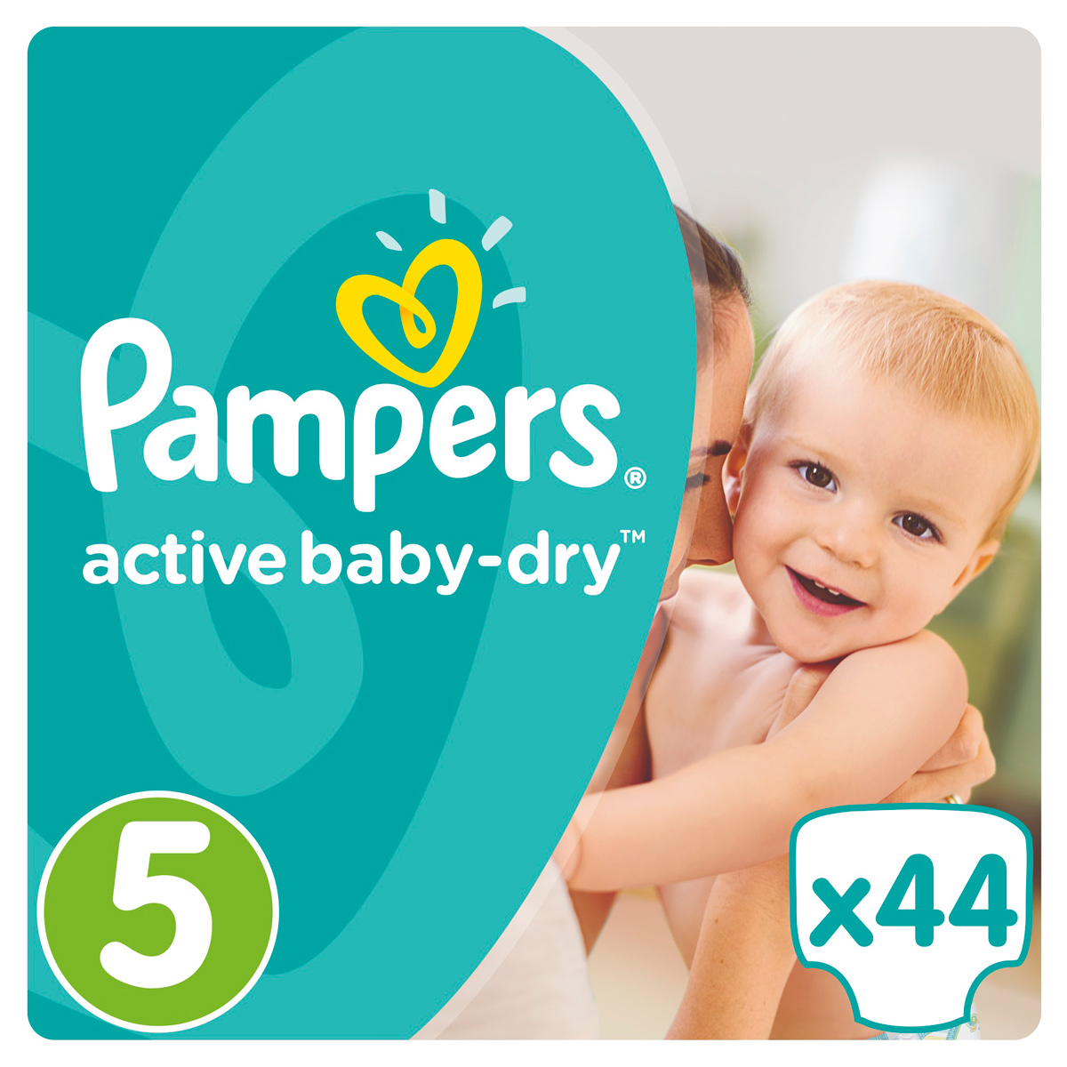 Pampers Active Baby Подгузники 5, 11-18 кг, 44 шт