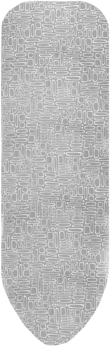 Чехол для гладильной доски Paterra, антипригарный, с поролоном, цвет: серый, белый, 146 х 55 смGC204/30Антипригарный чехол для гладильной доски Paterra необходим для обеспечения идеального результата в процессе глажения вещей. Он имеет хлопковую основу с особой антипригарной пропиткой из силикона, которая исключает пригорание одежды к чехлу в процессе глажения. Силиконовая пропитка обеспечивает эффект двустороннего глажения: чехол, нагреваясь, отдает тепло вещам. Натуральный хлопок в составе обеспечивает максимальную скорость скольжения утюга и 100% паропроницаемость. Хлопковый чехол имеет подкладку из поролона (мягкого пенополиуретана) оптимальной толщины (4 мм), которая не истончается со временем. Затяжной шнур определяет удобную и надежную фиксацию чехла на доске. Кроме того, наличие шнура делает чехол пригодным для гладильной доски любой формы и меньшего размера. Край хлопкового чехла обработан особой лентой, предотвращающей распускание ткани. Устойчивый рисунок сохраняется длительное время, даже под воздействием высоких температур.Размер чехла: 146 х 55 см.Максимальный размер доски: 140 x 50 см.Толщина подкладки: 4 мм.
