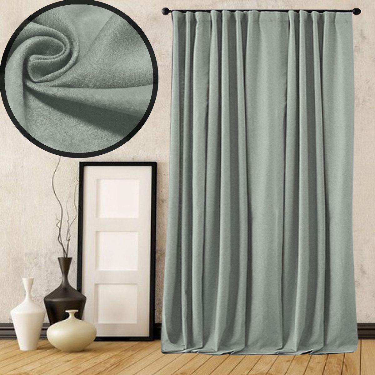 Портьера Amore Mio Софт, на ленте, цвет: серый, высота 270 см. 77510VCA-00Портьера Amore Mio - плотная, мягкая, ворсистая ткань - софт, с деликатным сатиновым блеском. Эти портьеры будут идеальным решением для спальни. Изготовлены из 100% полиэстера. Полиэстер - вид ткани, состоящий из полиэфирных волокон. Ткани из полиэстера легкие, прочные и износостойкие. Такие изделия не требуют специального ухода, не пылятся и почти не мнутся.Крепление к карнизу осуществляется при помощи вшитой шторной ленты.