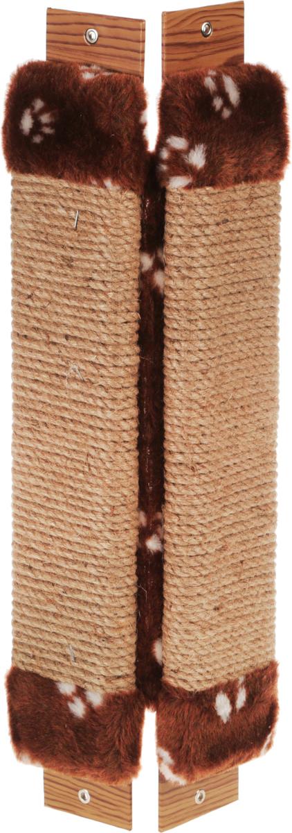Когтеточка Неженка, угловая, с кошачьей мятой, цвет: темно-коричневый, белый, бежевый, 54 х 20 х 2,5 см0120710Когтеточка Неженка поможет сохранить мебель и ковры в доме от когтей вашего любимца, стремящегося удовлетворить свою естественную потребность точить когти.Основание изделия изготовлено из ДСП и обтянуто прочной тканью, а столб для точения когтей обтянут джутом. Товар продуман в мельчайших деталях и, несомненно, понравится вашей кошке.Всем кошкам необходимо стачивать когти. Когтеточка - один из самых необходимых аксессуаров для кошки. Для приучения к когтеточке можно натереть ее сухой валерьянкой или кошачьей мятой. Когтеточка поможет вашему любимцу стачивать когти и при этом не портить вашу мебель.