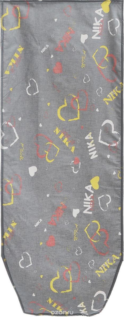 Чехол для гладильной доски Eva Сердечки, 120 х 40 смGC204/30Чехол для гладильной доски Eva Сердечки выполнен из хлопчатобумажной ткани с термостойким тефлоновым покрытием и подкладкой из пенополиуретана. Чехол предназначен для защиты или замены изношенного покрытия гладильной доски. Благодаря удобной системе фиксации легко крепится к гладильной доске. Этот качественный чехол обеспечит вам легкое глажение. Размер чехла: 120 x 40 см. Размер доски, для которой предназначен чехол: 112 х 32 см.