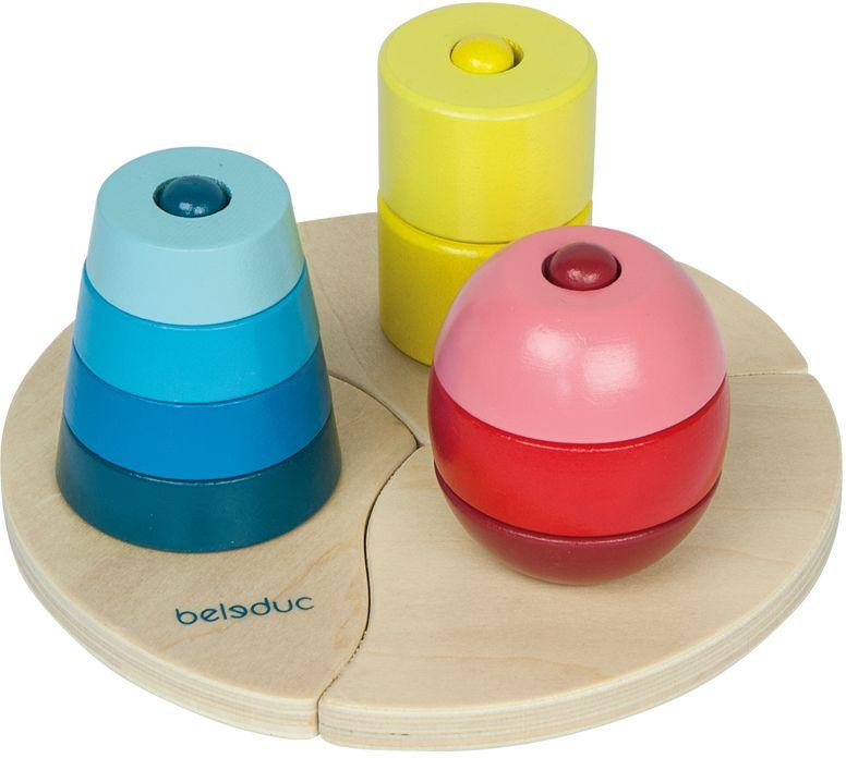 Beleduc Развивающая игрушка Три пирамидки beleduc развивающая игрушка забавная компания