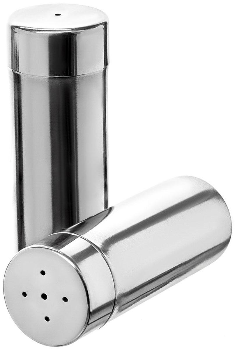 Набор для специй Walmer Oliver, 2 предмета23669Набор Walmer Oliver состоит из солонки и перечницы. Изделия выполнены из высококачественного стали. Такой набор для специй пригодится в любом хозяйстве, он функционален, практичен и легок в уходе. Размер солонки/перечницы: 4 х 4 х 11 см.