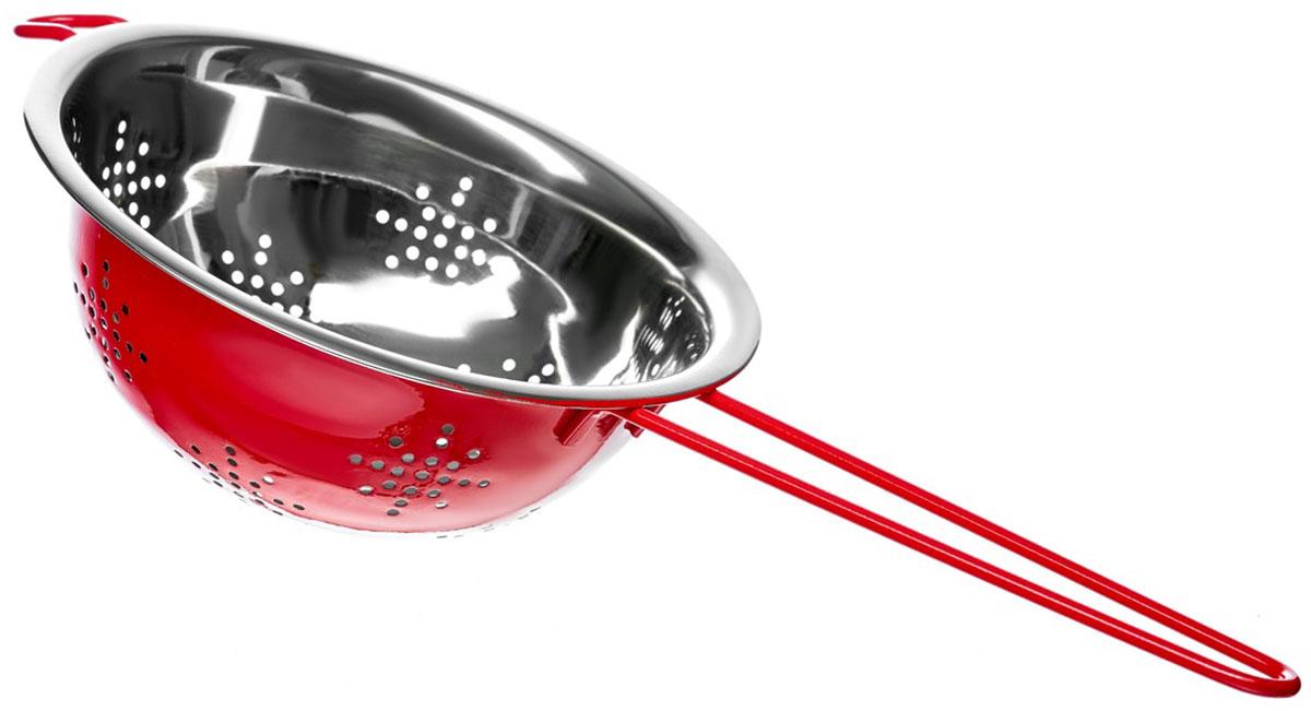 Дуршлаг Walmer Holly, цвет: красный, серый, диаметр 18 см115510Дуршлаг Walmer Holly, выполненный из нержавеющей стали, станет незаменимым аксессуаром на вашей кухне. Предназначен для промывания круп, грибов, ягод и фруктов. Он оснащен удобными ручками. Такой практичный, надежный и легкий дуршлаг понравится каждой хозяйке.Диаметр (по верхнему краю): 18 см.Высота стенки: 7 см.Ширина (с учетом ручек): 35,5 см.