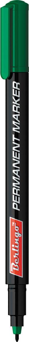 Berlingo Маркер перманентный цвет зеленый PM6321FS-36052Перманентный маркер Berlingo подходит для письма на любых поверхностях. Чернила изготовлены на спиртовой основе. Плотный колпачок с клипом надежно предотвращает высыхание. Цвет колпачка соответствует цвету чернил. Закругленный пишущий узел. Ширина линии - 1 мм. Длина непрерывной линии - 500 м.
