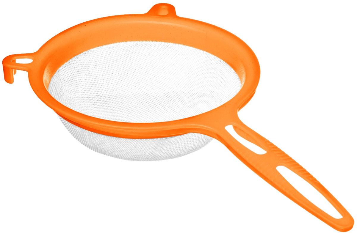 Сито Walmer Rainbow, цвет: оранжевый, диаметр 17 смW26040017_оранжевыйСито Walmer Rainbow изготовлено из высококачественного пластика. За обычным дизайном изделия скрывается практичность ифункциональность. Эргономичная ручка снабжена отверстием для подвешивания на крючок. С этим ситом вы можете просеивать сыпучие продукты, процеживатькомпоты и соки. Незаменимо оно станет и для приготовления детских пюре. Удобство в использовании дополняется двумя держателями.Такое сито станет незаменимым аксессуаром на вашей кухне. Диаметр сита: 17 см. Ширина (с учетом ручки и держателей): 32,5 см.Высота: 8 см.