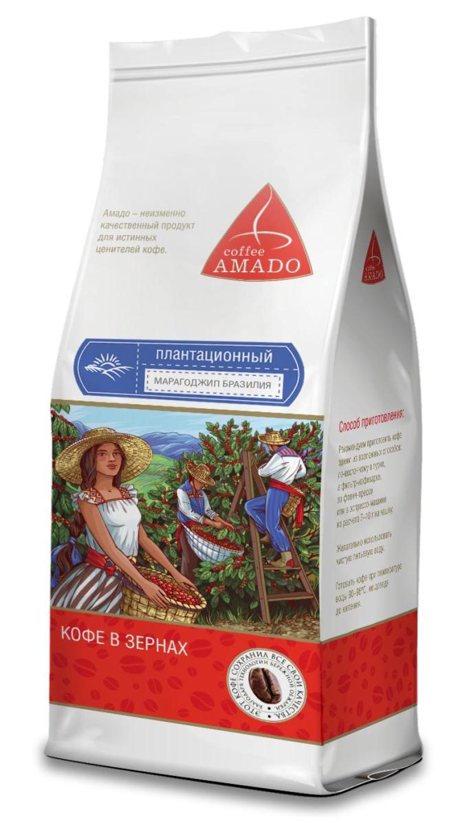Amado Марагоджип Бразилия кофе в зернах, 200 г4602076001279Марагоджип Бразилия - кофе, выращенный на высокогорье штата Минас-Жерайс, имеет богатую палитру вкуса и аромата. Ягоды этого сорта при созревании имеют яркий желтый цвет, оттуда и название Yellow Maragogype. Вы почувствуете яркий фруктовый вкус в чашке, с приятной сладостью, мягкой кислинкой и нежным цветочным послевкусием. Рекомендуемый способ приготовления: по-восточному, френч-пресс, гейзерная кофеварка, фильтр-кофеварка, кемекс, аэропресс.