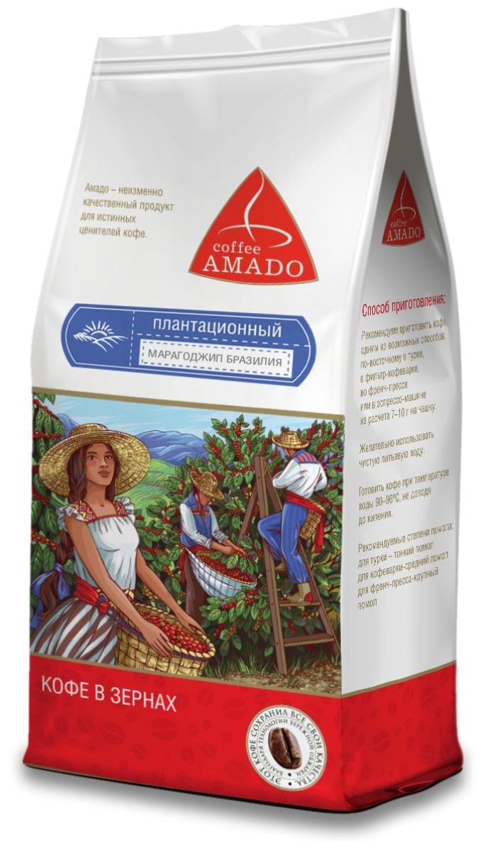 Amado Марагоджип Бразилия кофе в зернах, 500 г12297258Марагоджип Бразилия - кофе, выращенный на высокогорье штата Минас-Жерайс, имеет богатую палитру вкуса и аромата. Ягоды этого сорта при созревании имеют яркий желтый цвет, оттуда и название Yellow Maragogype. Вы почувствуете яркий фруктовый вкус в чашке, с приятной сладостью, мягкой кислинкой и нежным цветочным послевкусием. Рекомендуемый способ приготовления: по-восточному, френч-пресс, гейзерная кофеварка, фильтр-кофеварка, кемекс, аэропресс.