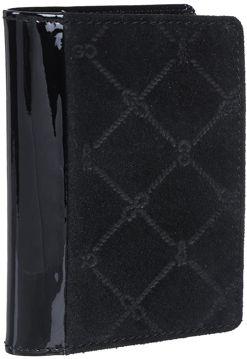 Обложка для паспорта женская Gianni Conti, цвет: черный. 3627455A52_108Обложка для паспорта женская Gianni Conti выполнена из натуральной кожи. Модель раскладывается пополам, внутри левое поле 3 см, правое поле 7 см. Имеет шесть кармашков для пластиковых карт.