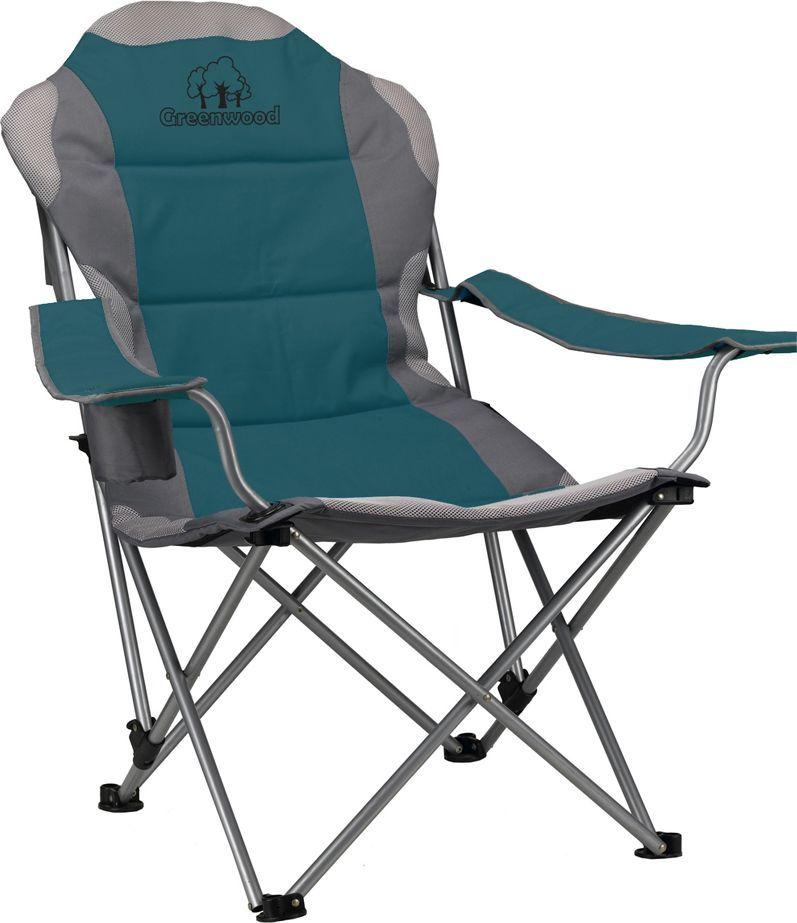 Кресло складное  Greenwood , 3-позиционное, цвет: зеленый. FCG-02 - Складная и надувная мебель