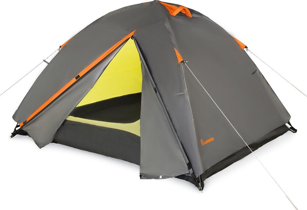 Палатка Larsen  A3 Quest , 3-х местная, цвет: серый, оранжевый - Палатки и тенты