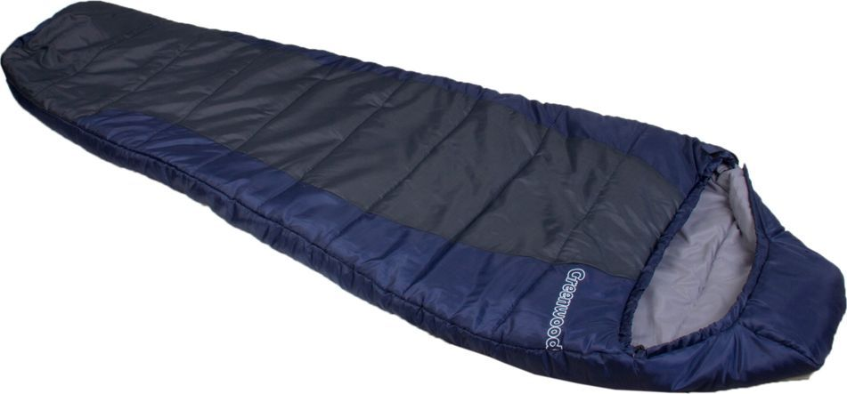 Спальный мешок Greenwood  RS FS-1012 , цвет: синий, серый, левосторонняя молния - Спальные мешки