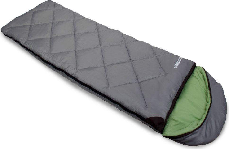 Спальный мешок Larsen RS 350L-2, цвет: серый, зеленый, левосторонняя молния + дополнительный замокKOC2028LEDВнутренний материал: полиэстер SILK TOUCH Прочный чехол: оксфорд 150D PU1000 Размеры: 180 х 40 х 75 см Вес: 1,80 кг Внешний материал: полиэстер 70D/190T W/R CIRE Наполнитель: холлофайбер, 350 г/кв. м Конструкция: одеяло + капюшон Максимальная температура: + 5°С Температура комфорта: 0°С Экстремальная температура: - 5°С Съемный капюшон: + Замок для присоединения дополнительного спальника: +