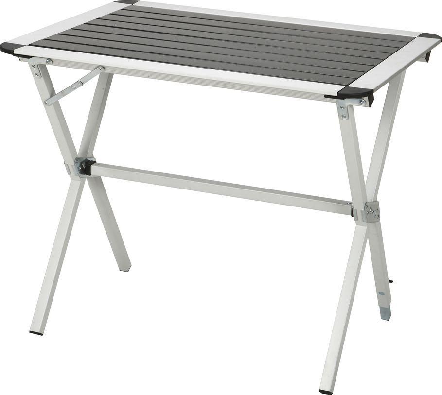 Стол складной Greenwood TA-401S, цвет: серый, 80 x 60 х 70 смK100Размер: 80 x 60 х 70 см Материал: алюминий Материал ножек: алюминий (матовое покрытие) Диаметр ножек: 25 мм Вес: 3,8 кг Особенности: 1 ножка регулируется по высоте для создания устойчивости на неровной поверхности Каркас: алюминий Материал столешницы: алюминий Максимальная нагрузка на стол: 30 кг