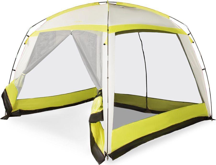 Тент-палатка Larsen Chalet N/C N/S, цвет: желтый, серый, 300 х 300 х 220 см244880Материал тента: полиэстер PU Материал пола: 1200 мм Дуги: фиберглас, 9,5 мм Размеры палатки: 300 х 300 х 220 см Дополнительно: без пола, два входа, сетчатые окна Вес: 4,42 кг Антимоскитная сетка : + Проклеенные швы: + Водонепроницаемость: 1200 мм