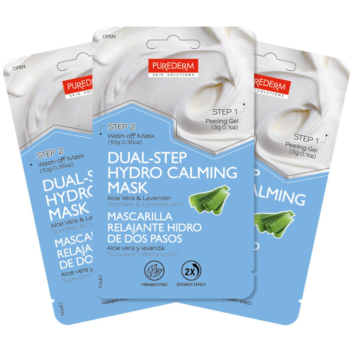 Purederm Набор Двойной уход: Отшелушивающий гель, 3 г, + Успокаивающая маска с алое и лавандой, 10 гFS-54114Сочетает в себе преимущества глубокого очищения и увлажнения для достижения максимального результата. Отшелушивающий гель (Шаг 1) содержит экстракты апельсина, лимона и яблока, отлично очищает поры, нежно отшелушивает и разглаживает поверхность кожи, что повышает эффективность увлажняющей маски.(Шаг 2): Успокаивающая маска с алое и лавандой: в состав входят эффективные увлажняющие компоненты, такие как алоэ вера, лаванда и растительный комплекс, которые наполняют влагой и успокаивают кожу. Маска мгновенно впитывается, насыщая кожу питательными веществами и защищает кожу от сухости, делая ее более сияющей.Не содержит парабены, минеральные масла, тальк, силикон и SLS, которые вызывают раздражение кожи.