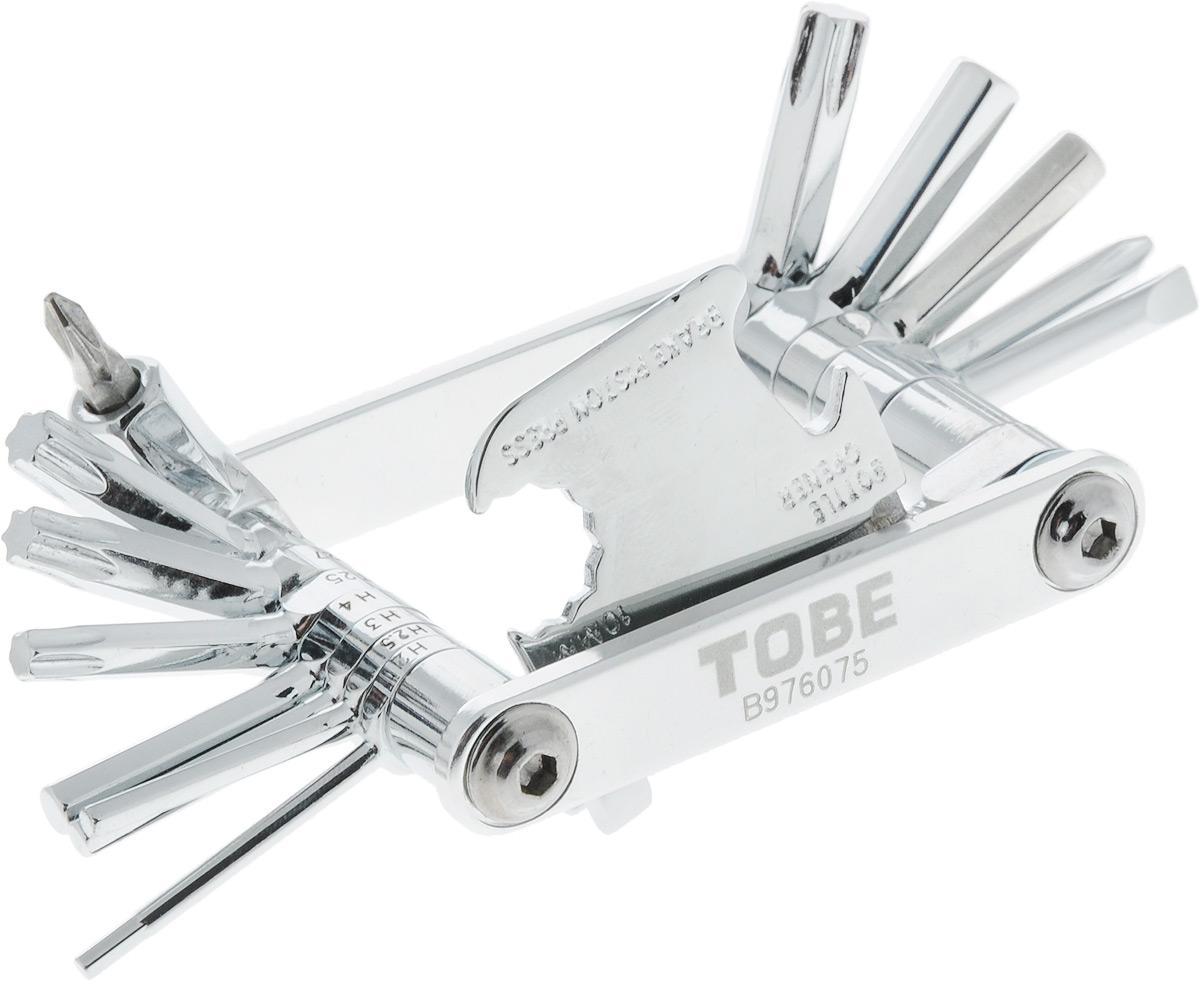 Инструмент складной To Be, 22 в 1MW-1462-01-SR серебристыйСкладное изделие To Be - это многофункциональный инструмент, включающий в себя 22 составляющих. Изделие выполнено из прочной стали. Такой инструмент станет незаменим для велосипедистов. В сложенном виде он занимает мало места.С мультифункциональным инструментом To Be ни одна неприятность не застанет вас врасплох.Инструменты:Шестигранники: 2 мм, 2,5 мм, 3 мм, 4 мм, 5 мм, 6 мм, 8мм. Отвертки: Т25, Т27, Т30, Т40, PH1, PH2, SL3, SL4.Выжимка цепи.Спицевые ключи: 3,2 мм, 3,5 мм.Mavic 5,65 мм.Пресс тормозного поршня.