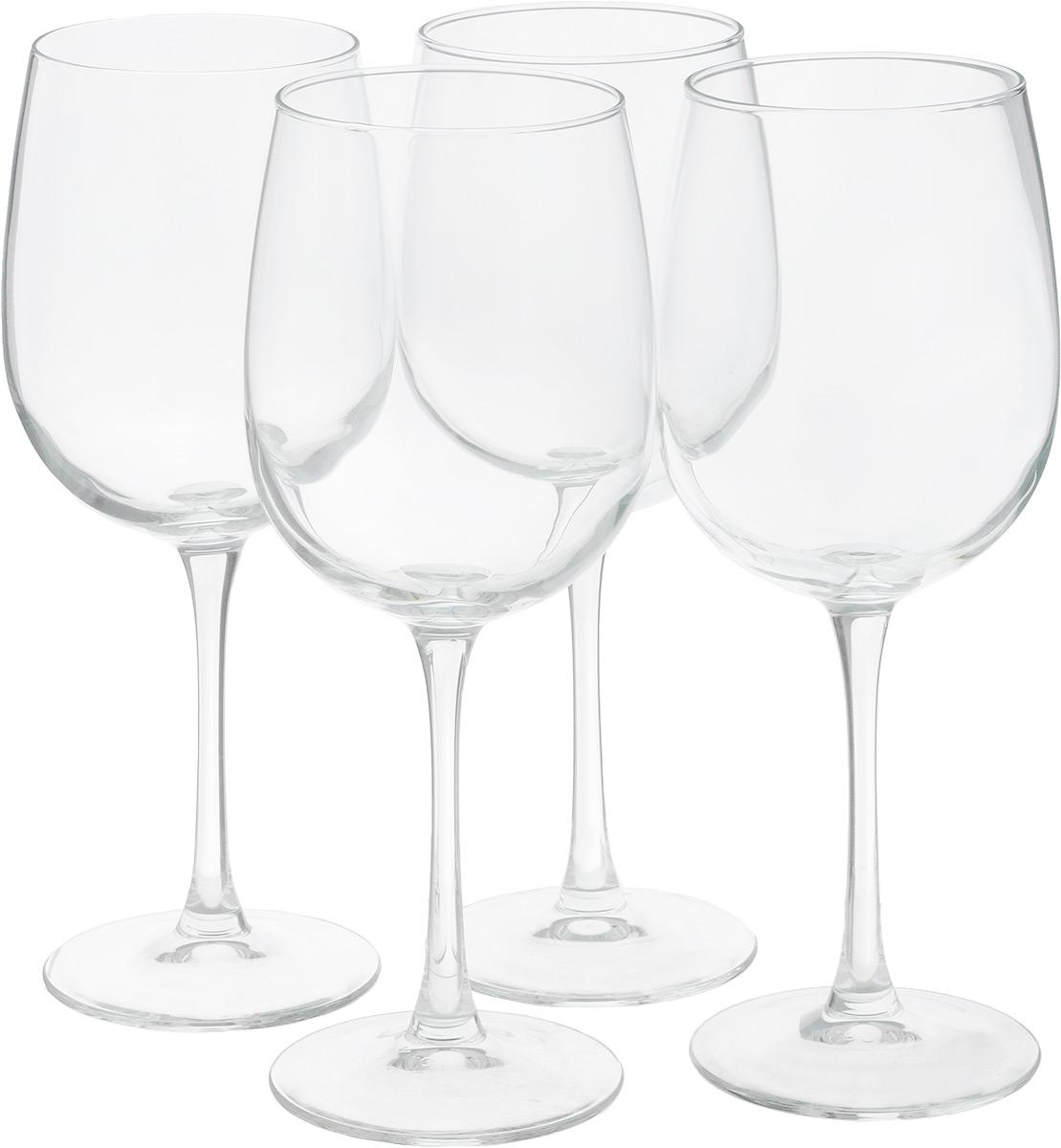 Набор фужеров для вина Luminarc Allegresse, 550 мл, 4 штART 89523Набор Luminarc Allegresse состоит из четырех фужеров, выполненных из прочного стекла. Изделия оснащены высокими ножками. Фужеры предназначены для подачи вина. Набор фужеров Luminarc Allegresse прекрасно оформит праздничный стол и создаст приятную атмосферу за романтическим ужином. Такой набор также станет хорошим подарком к любому случаю. Можно мыть в посудомоечной машине.Диаметр фужера (по верхнему краю): 7,5 см. Высота фужера: 23 см.