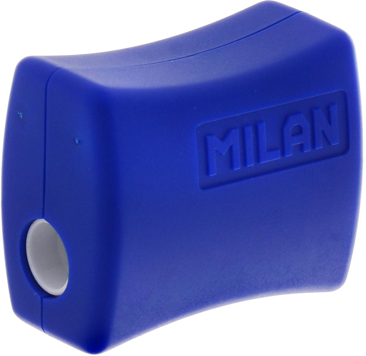 Milan Точилка Double с контейнеромС06Удобная точилка Milan Double с контейнером оснащена безопасной системой заточки.Эта система предотвращает отделение лезвия от точилки. Идеально подходит для использования в школах. Стальное лезвие острое и устойчиво к повреждению. Идеально подходит для заточки графитовых и цветных карандашей