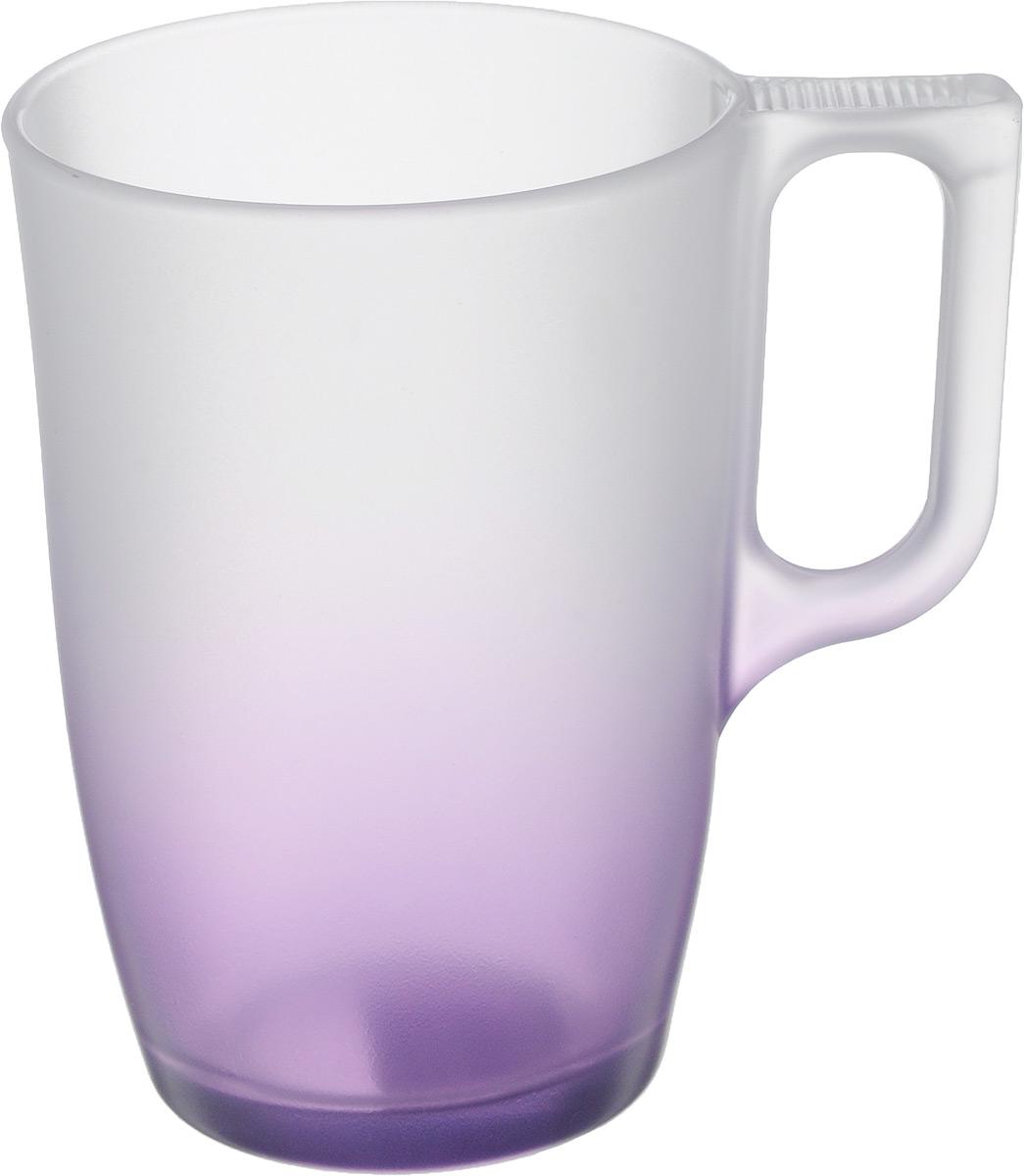 Кружка Luminarc Maritsa, цвет: прозрачный, фиолетовый, 320 мл115510Кружка Luminarc Maritsa изготовлена из упрочненного стекла. Такая кружка прекрасно подойдет для горячих и холодных напитков. Она дополнит коллекцию вашей кухонной посуды и будет служить долгие годы. Можно использовать в микроволновой печи и мыть в посудомоечной машине.Диаметр кружки (по верхнему краю): 7,7 см. Высота кружки: 11,2 см.