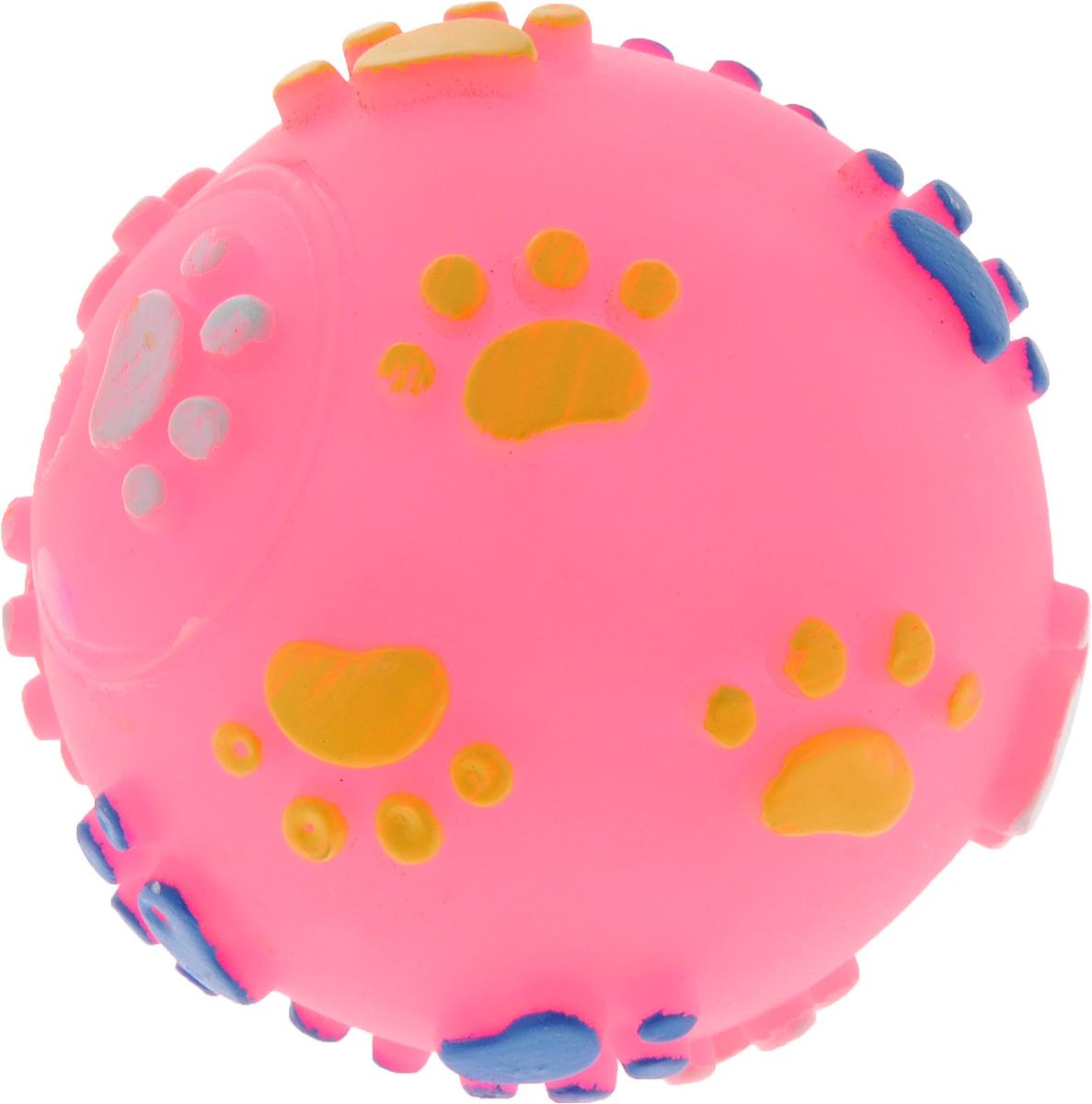 Игрушка для животных Каскад Мяч. Лапки, с пищалкой, цвет: розовый, белый, желтый, диаметр 6 см0120710Игрушка Каскад Мяч. Лапки изготовлена из прочной и долговечной резины, которая устойчива к разгрызанию. Необычная и забавная игрушка прекрасно подойдет для собак, любящих игрушки с пищалками. Игрушка оснащена пищалкой. Диаметр: 6 см.
