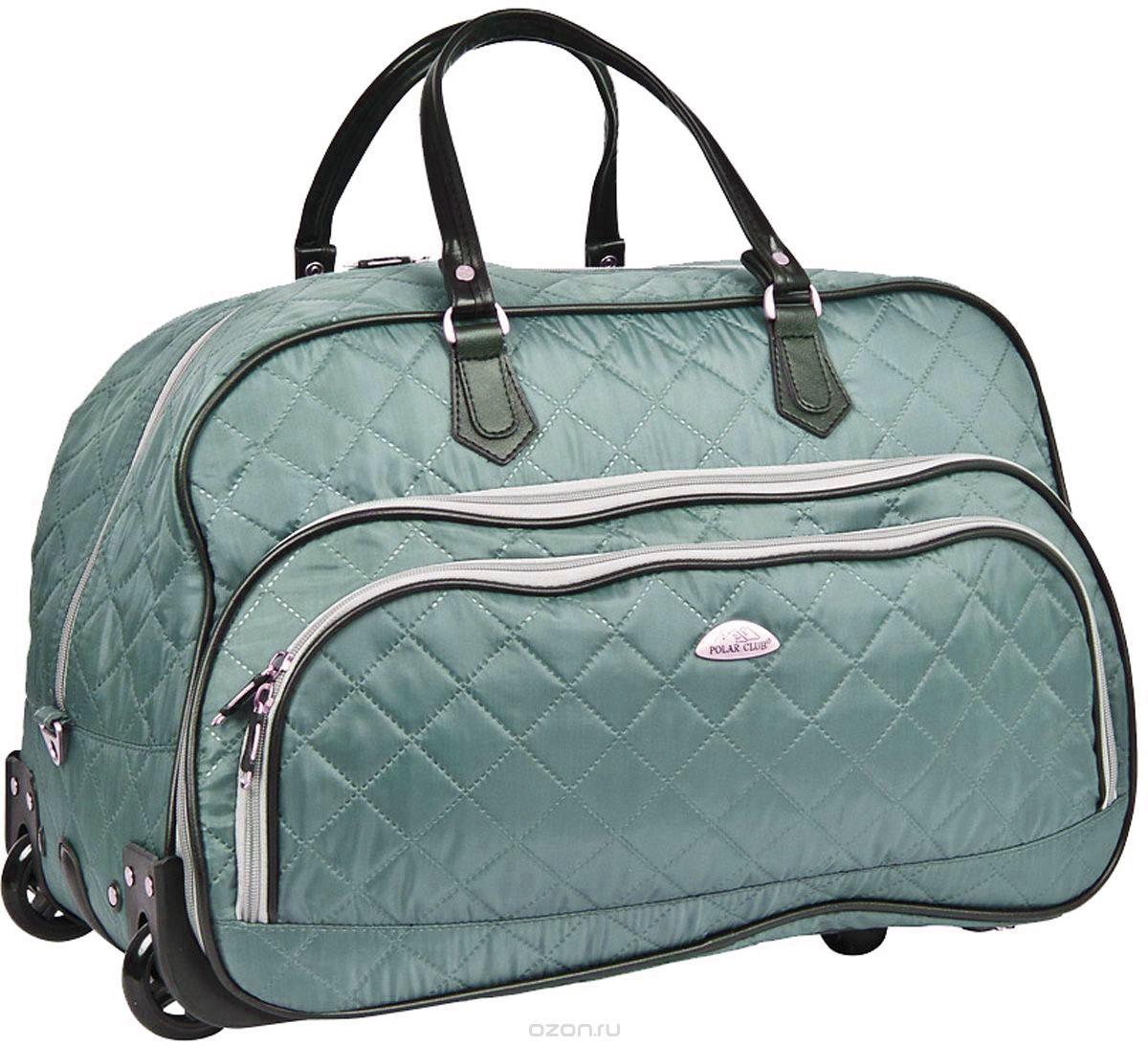 Сумка дорожная Polar Стежка, на колесах, цвет: серый, 51 л, 55 х 37 х 25 см. 7050.1A-B86-05-CКолесная дорожная сумка Polar. Пластиковые колеса, выдвижная ручка ,выдвигается на 38 см. Имеется съемный плечевой ремень, что бы носить сумку через плечо. Одно большое отделение для ваших вещей. Два кармана спереди сумки на молнии. Высота ручек 17 см.