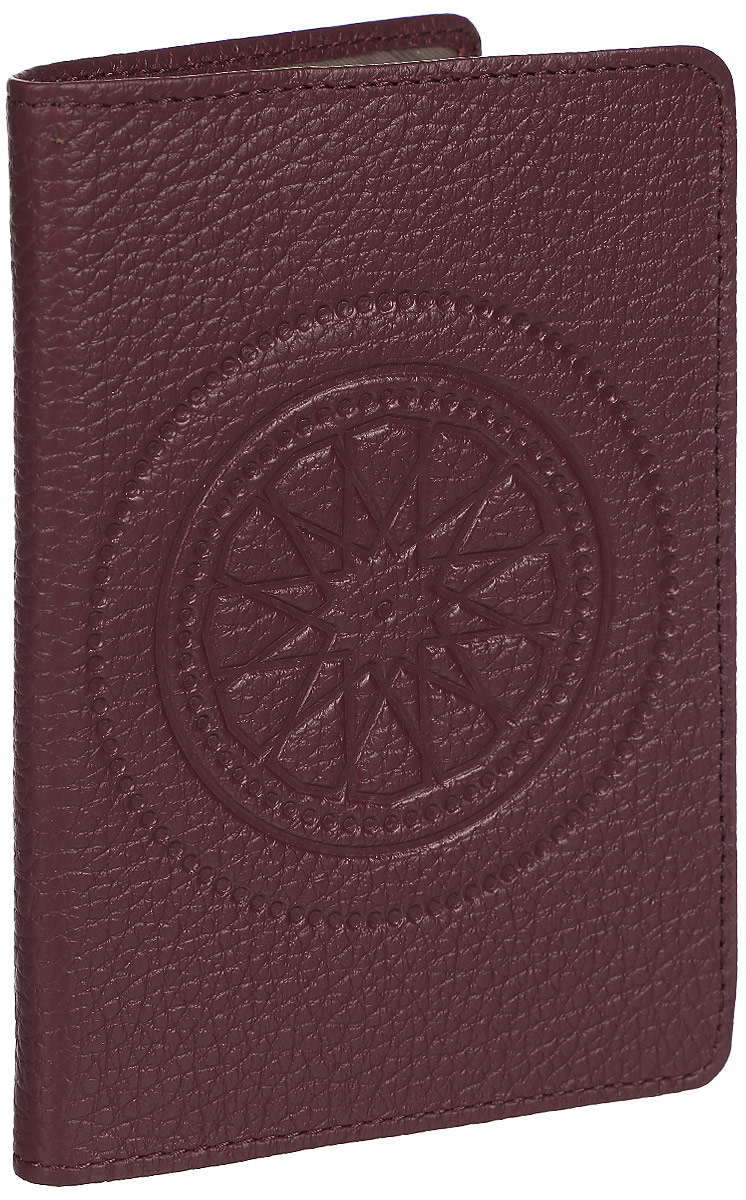Обложка для паспорта женская Fabula Talisman, цвет: бордовый. O.65.SN визитница горизонтальная askent talisman цвет шоколадный v 72 sn