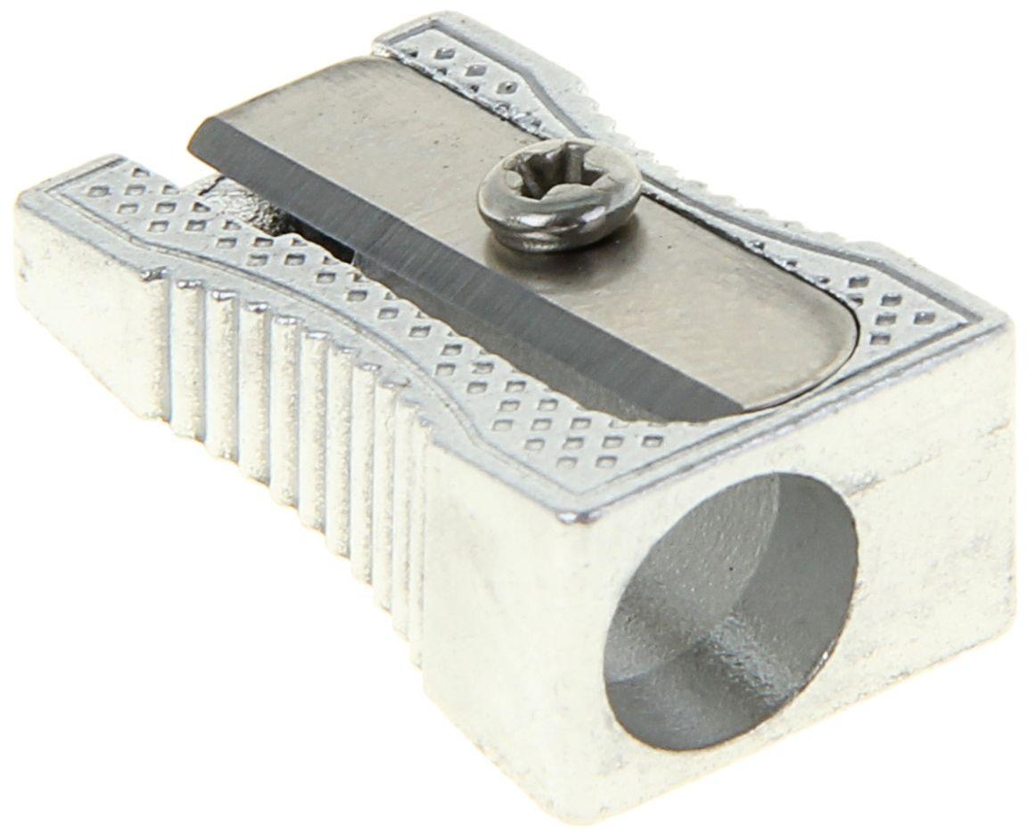 Erich Krause Точилка Ferro1013719Ударопрочный металлический корпус с эргономичной зоной захвата. Отверстие диаметром 8 мм для заточки стандартных карандашей. Высококачественное стальное лезвие обеспечивает аккуратную и острую заточку.