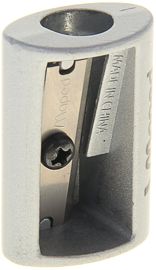 Maped Точилка SatelliteFS-36054Точилка — это приспособление, облегчающее затачивание карандашей. В зависимости от особенностей конструкции, она может быть ручной (небольшой размер, помещается в кармане) или настольной (более крупный размер) и подходить для обычных или толстых карандашей. Точилка — необходимый инструмент на любом школьном или офисном столе. Это канцелярское изделие придет на помощь как взрослому, так и ребенку в самый нужный момент. Заострить карандаш, выровнять или восстановить сломавшийся грифель — вот главные функции, с которыми справится Точилка металлическая SATELLITE на одно отверстие.