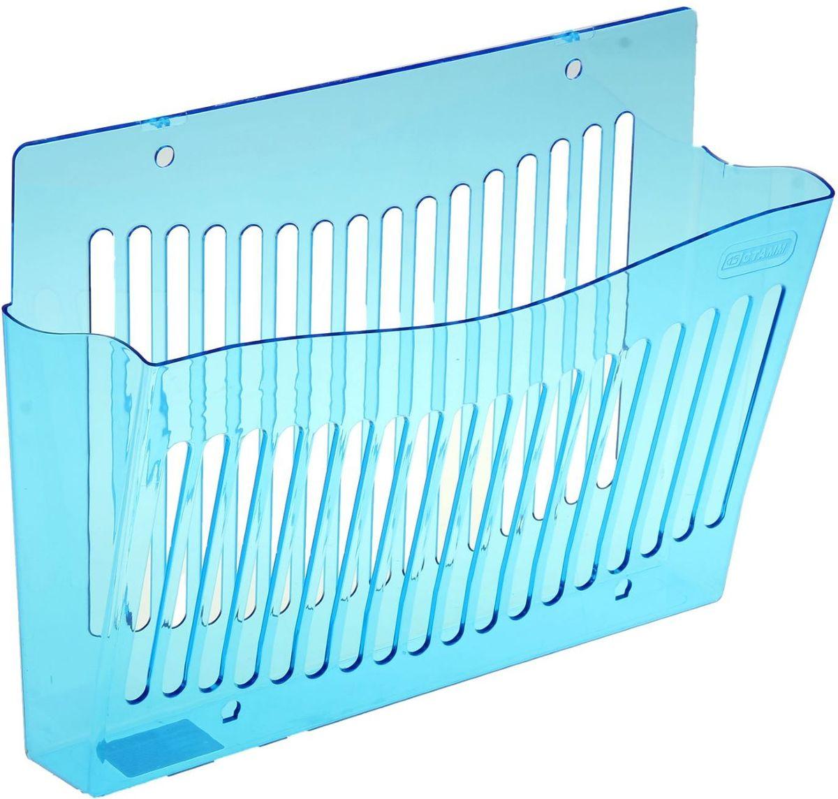 Стамм Лоток для бумаг настенный Indigo цвет синий1147656Лоток для бумаг Стамм Indigo выполнен в современном элегантном дизайне из высококачественного прочного пластика. Имеет одно вместительное отделение для листов формата А4. Благодаря специальным вырубкам, лоток можно закрепить на стене. С лотком для бумаг Стамм Indigo на вашем рабочем столе всегда будет царить порядок, а важные бумаги будут под рукой и не потеряются.