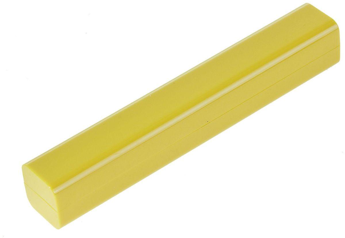 Футляр для ручки цвет желтый139577Ручка давно стала популярным сувениром, а в деловой среде - это элемент стиля и свидетельство статуса. Первоклассные, качественные ручки, зачастую, стоят довольно дорого и требуют особого внимания.Пластиковый футляр для одной ручки - необходимый аксессуар. Он предотвратит ручку от царапин и повреждений, с которыми она неминуемо будет сталкиваться в кармане, портфеле или в ящике письменного стола.