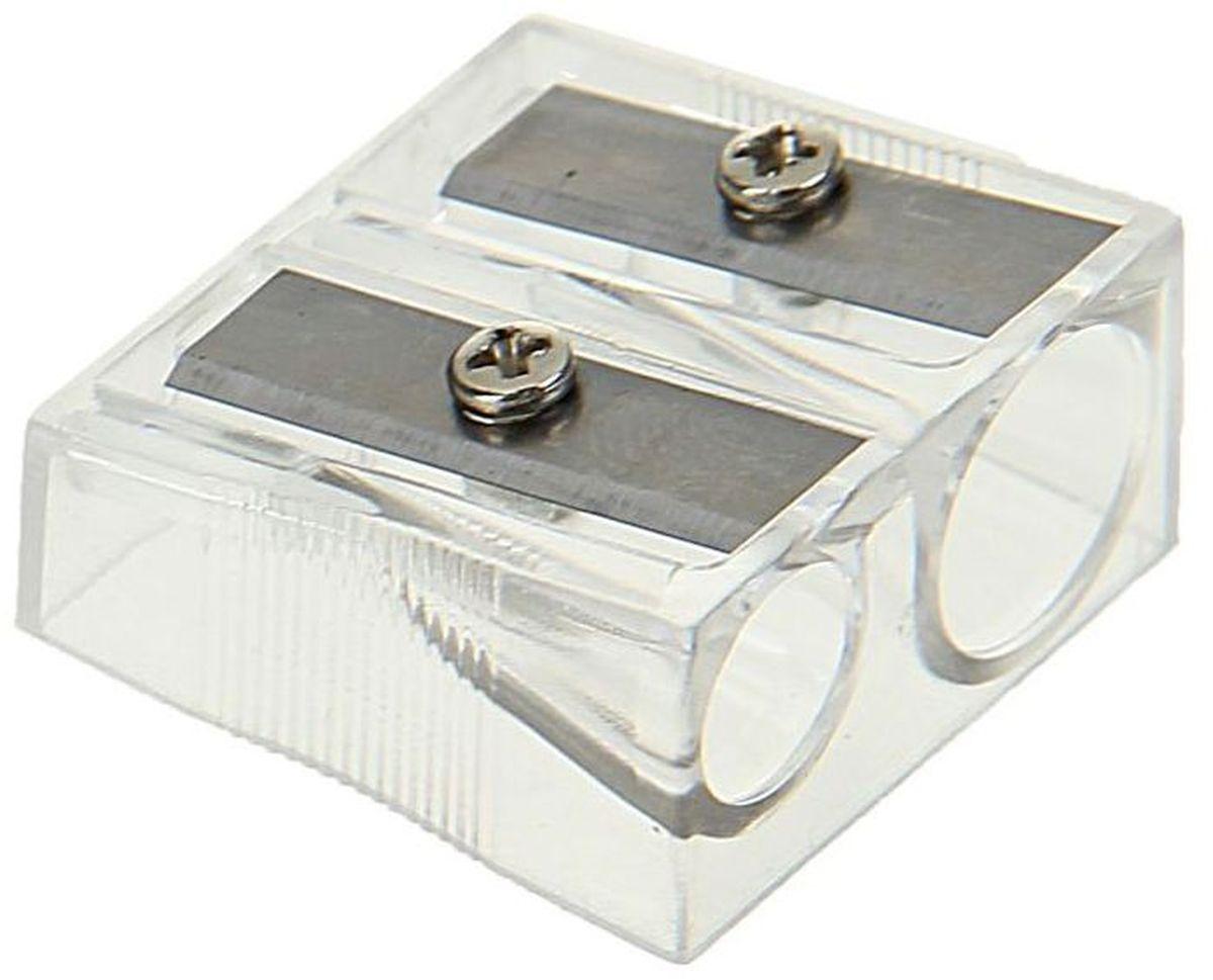 Calligrata Точилка двойная цвет прозрачный72523WDДвойная точилка Calligrata выполнена из прозрачного пластика.Оснащена двумя отверстиями разных диаметров.Высококачественное металлическое лезвие обеспечивает аккуратную и острую заточку.