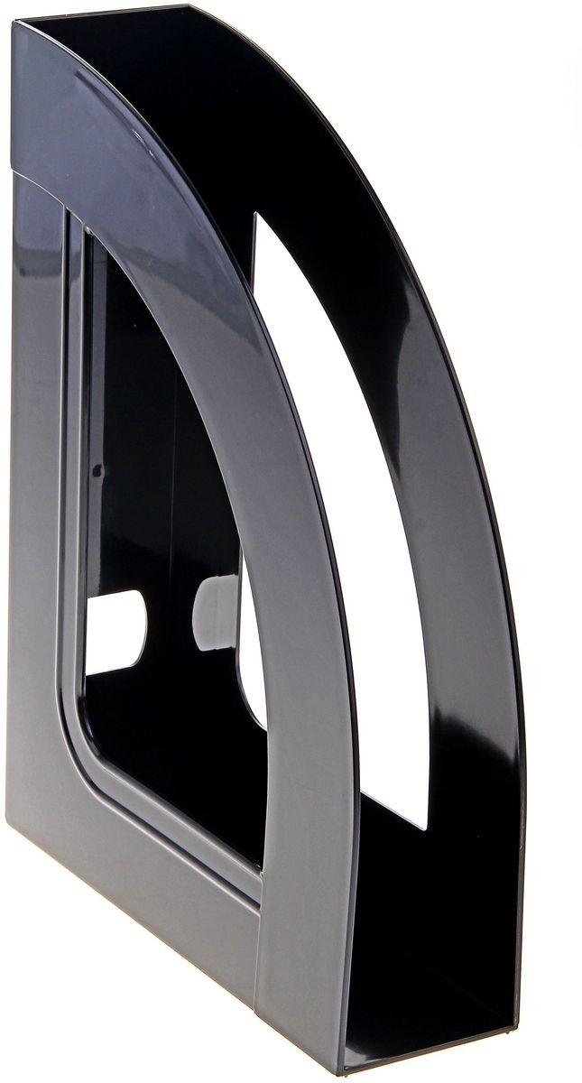 Стамм Лоток для бумаг вертикальный Респект цвет черный -  Лотки, подставки для бумаг