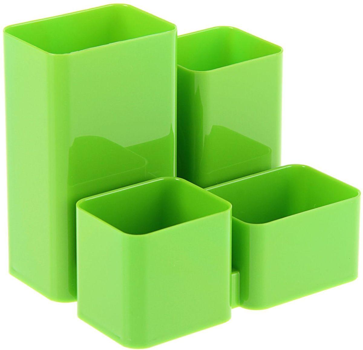 Стамм Органайзер настольный Юниор цвет зеленый2010440Органайзер Юниор зеленый KIWI ОР310 – простая и практичная вещь. Он очень быстро станет незаменимым жителем на рабочем столе. Множество отделений вместят в себя все самое необходимое, сэкономив тем самым ваше время, пространство на столе и деньги.