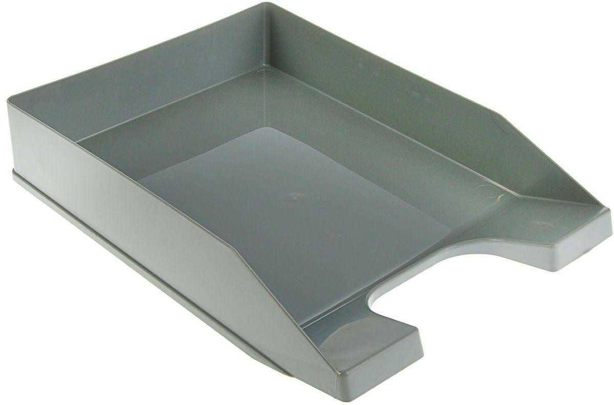 Стамм Лоток для бумаг горизонтальный Стандарт цвет серый1889808