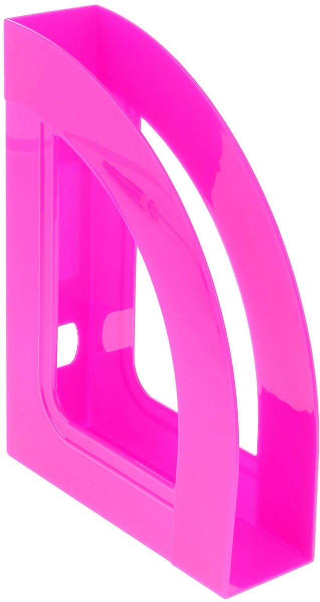 Стамм Лоток для бумаг вертикальный Респект цвет розовый -  Лотки, подставки для бумаг