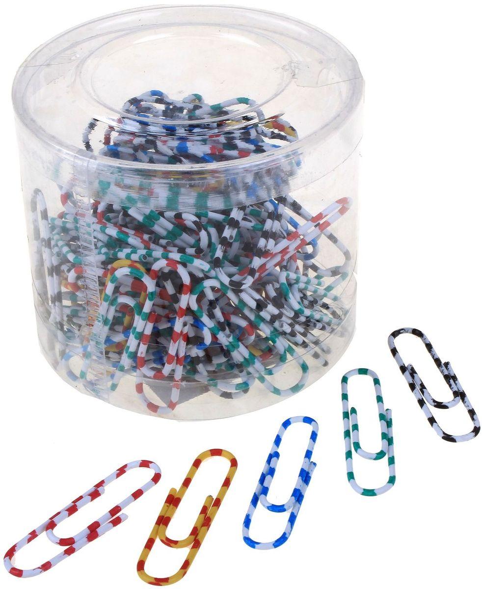 Скрепки Зебра 33 мм 100 шт545021Металлические канцелярские скрепки с цветным пластиковым покрытием.Не пачкают бумагу, обеспечивают надежное скрепление. Длина - 33 мм. Обеспечивают надежное скрепление. Упаковка содержит 100 штук.