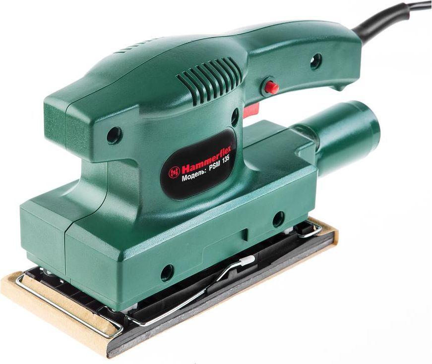Шлифовальная машинка плоская Hammer Flex PSM1353 05 01 029Шлиф.машинка плоская Hammer Flex PSM135 135Вт 10000об/мин 90x187мм