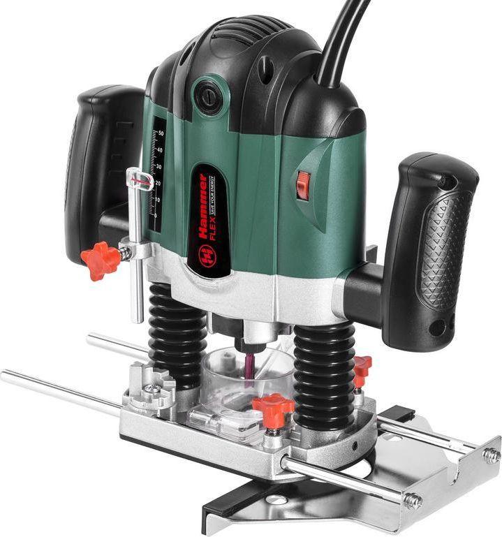 Фрезер Hammer Flex FRZ1200B161-004Фрезер Hammer Flex FRZ1200B 1200Вт, 30000об/мин, диам хвостовика 6/8мм, макс. ход 55 мм