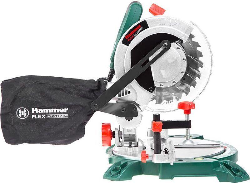 Пила торцовочная (стусло) Hammer Flex STL1400/210FSM-02Пила торцовочная (стусло) Hammer Flex STL1400/210 1400Вт 5000об/мин круг 210мм гл. 55мм