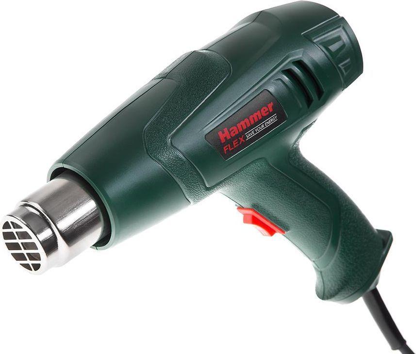 Фен технический Hammer Flex HG2000LE72/14/7Фен техн. Hammer Flex HG2000LE 2000Вт 350/600С 300/500л/мин насадки, тепл.защита